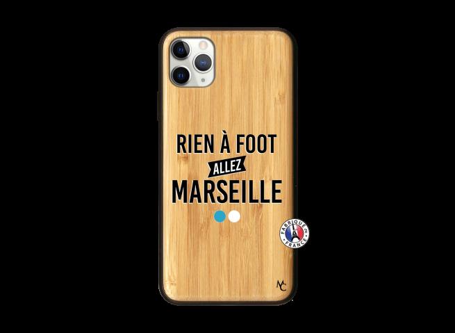 Coque iPhone 11 PRO MAX Rien A Foot Allez Marseille Bois Bamboo