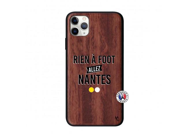 Coque iPhone 11 PRO MAX Rien A Foot Allez Nantes Bois Walnut