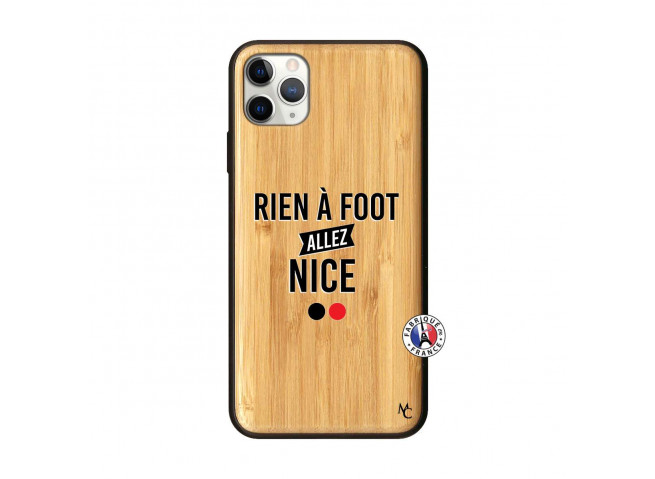 Coque iPhone 11 PRO MAX Rien A Foot Allez Nice Bois Bamboo