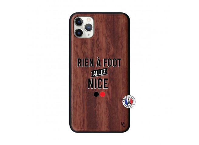 Coque iPhone 11 PRO MAX Rien A Foot Allez Nice Bois Walnut