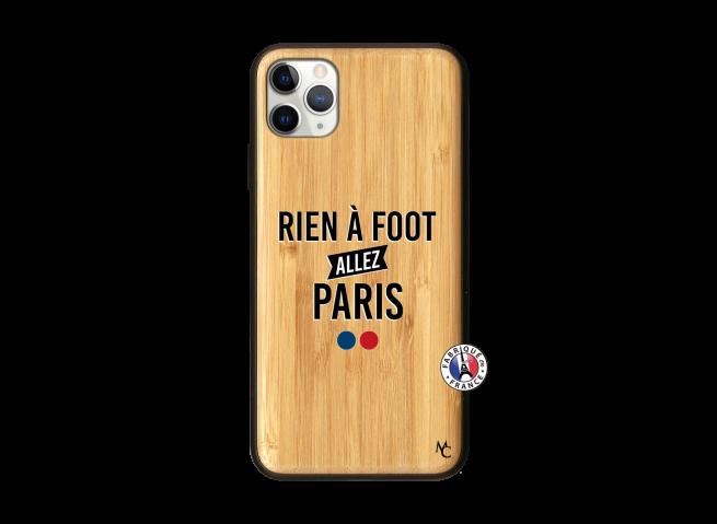 Coque iPhone 11 PRO MAX Rien A Foot Allez Paris Bois Bamboo