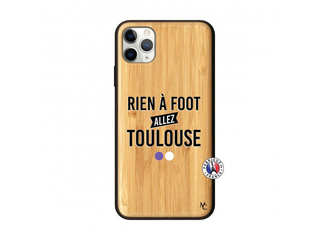 Coque iPhone 11 PRO MAX Rien A Foot Allez Toulouse Bois Bamboo