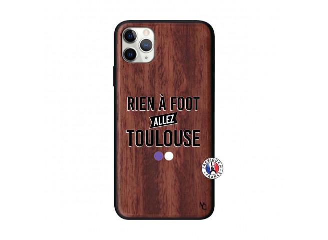 Coque iPhone 11 PRO MAX Rien A Foot Allez Toulouse Bois Walnut