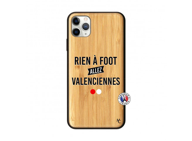 Coque iPhone 11 PRO MAX Rien A Foot Allez Valenciennes Bois Bamboo