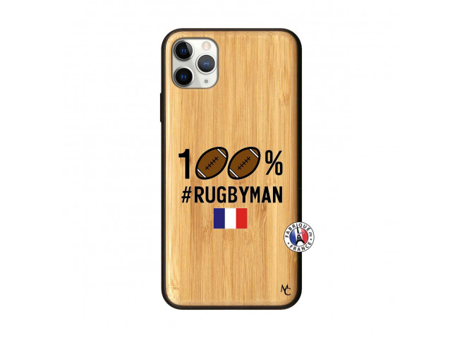Coque iPhone 11 PRO MAX 100% Rugbyman Bois Bamboo