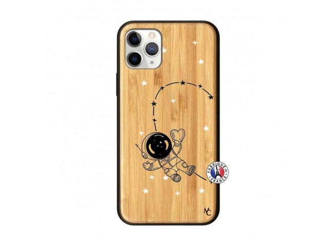 Coque iPhone 11 PRO Astro Girl Bois Bamboo