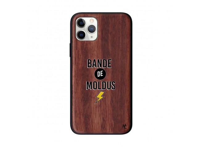 Coque iPhone 11 PRO Bande De Moldus Bois Walnut