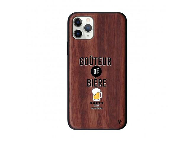 Coque iPhone 11 PRO Goûteur de Bière Bois Walnut