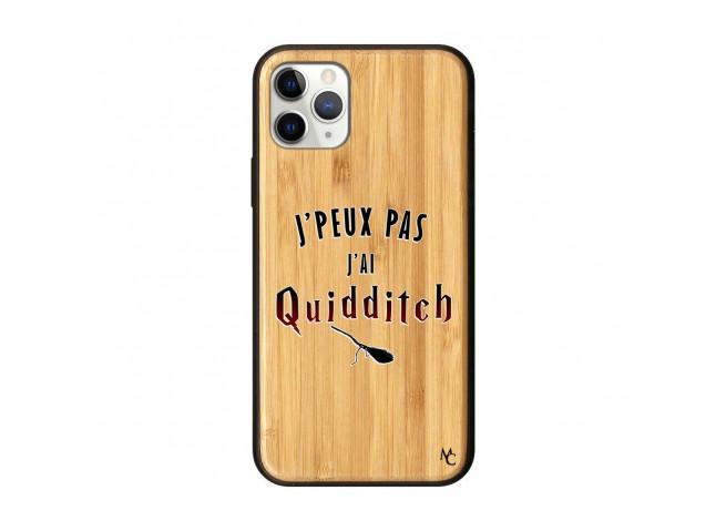 Coque iPhone 11 PRO J Peux Pas J Ai Quidditch 2 Bois Bamboo