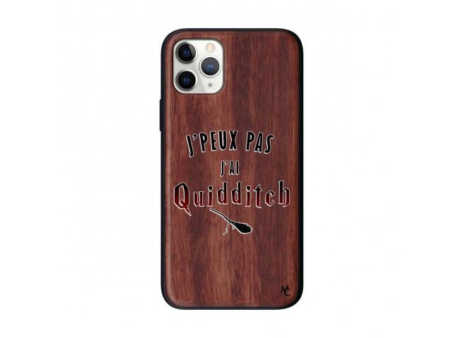 Coque iPhone 11 PRO J Peux Pas J Ai Quidditch 2 Bois Walnut