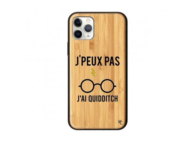 Coque iPhone 11 PRO J Peux Pas J Ai Quidditch Bois Bamboo
