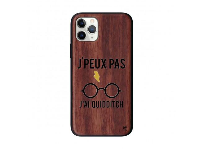 Coque iPhone 11 PRO J Peux Pas J Ai Quidditch Bois Walnut