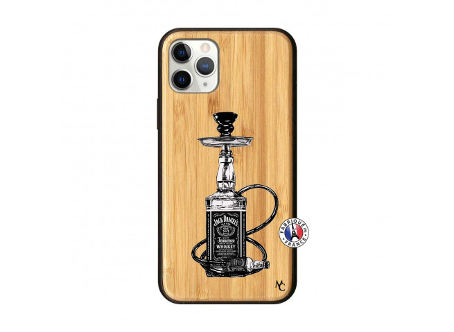 Coque iPhone 11 PRO Jack Hookah Bois Bamboo