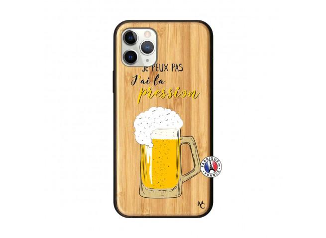 Coque iPhone 11 PRO Je peux pas J'ai la Pression Bois Bamboo