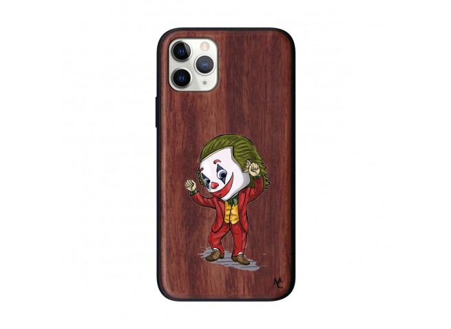 Coque iPhone 11 PRO Joker Dance Bois Walnut