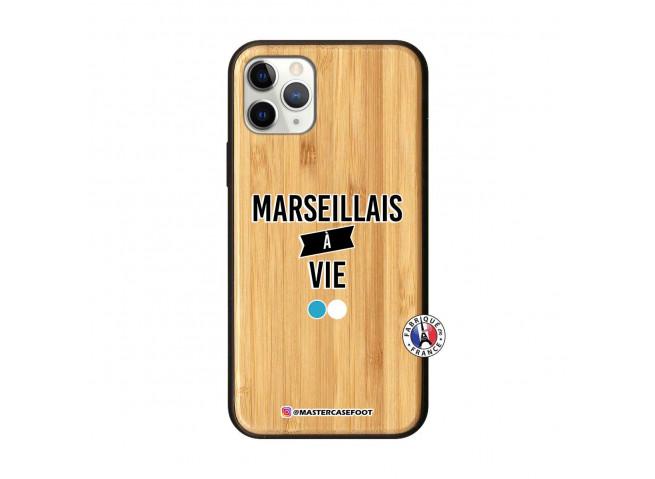 Coque iPhone 11 PRO Marseillais à Vie Bois Bamboo