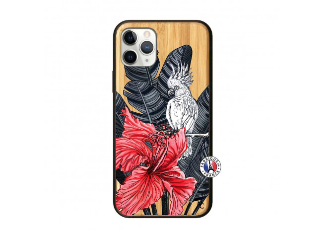 Coque iPhone 11 PRO Papagal Bois Bamboo