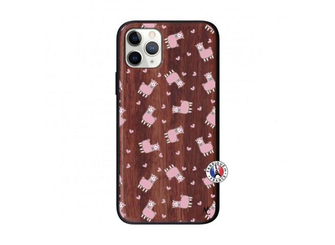 Coque iPhone 11 PRO Petits Moutons Bois Walnut