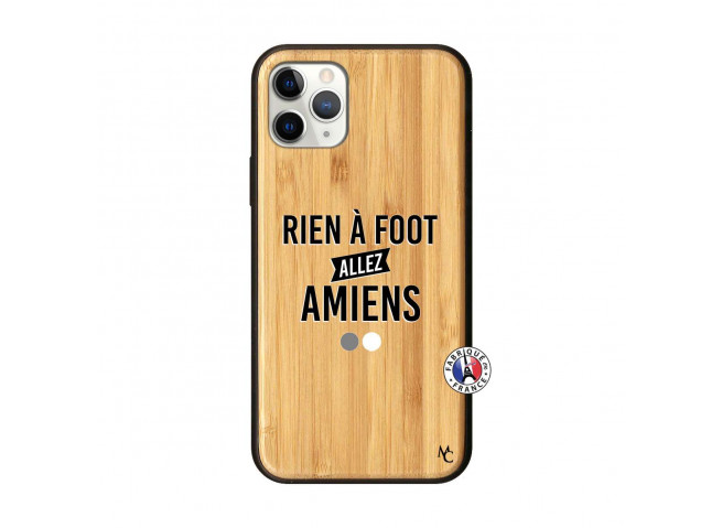 Coque iPhone 11 PRO Rien A Foot Allez Amiens Bois Bamboo