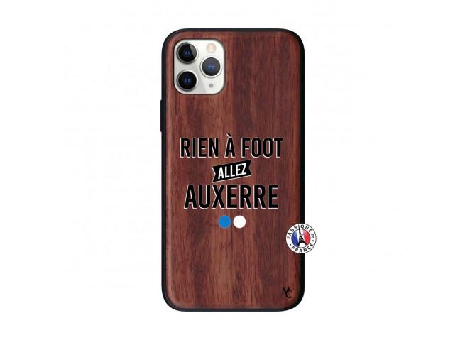 Coque iPhone 11 PRO Rien A Foot Allez Auxerre Bois Walnut
