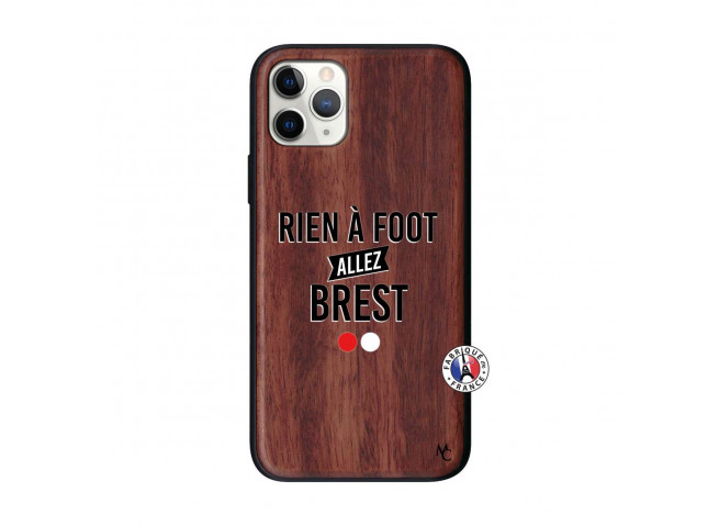 Coque iPhone 11 PRO Rien A Foot Allez Brest Bois Walnut
