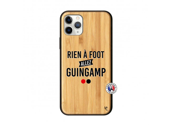 Coque iPhone 11 PRO Rien A Foot Allez Guingamp Bois Bamboo