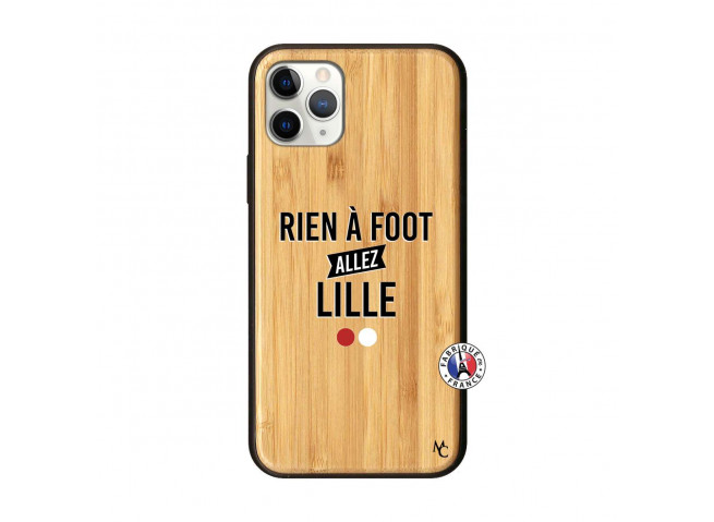 Coque iPhone 11 PRO Rien A Foot Allez Lille Bois Bamboo