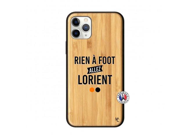 Coque iPhone 11 PRO Rien A Foot Allez Lorient Bois Bamboo