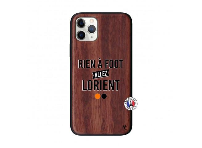 Coque iPhone 11 PRO Rien A Foot Allez Lorient Bois Walnut