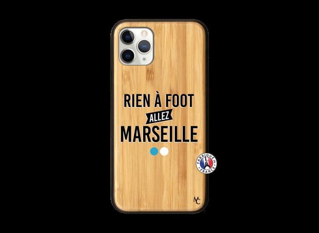 Coque iPhone 11 PRO Rien A Foot Allez Marseille Bois Bamboo