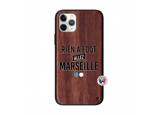 Coque iPhone 11 PRO Rien A Foot Allez Marseille Bois Walnut