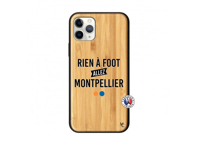 Coque iPhone 11 PRO Rien A Foot Allez Montpellier Bois Bamboo