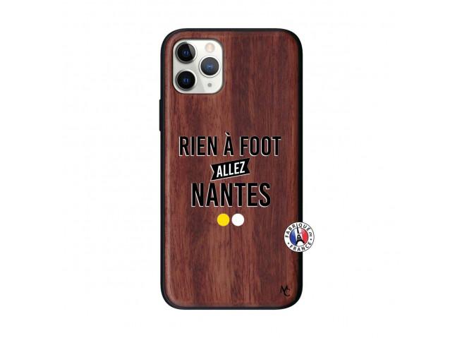 Coque iPhone 11 PRO Rien A Foot Allez Nantes Bois Walnut