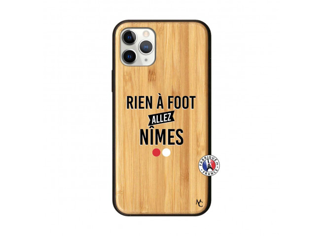 Coque iPhone 11 PRO Rien A Foot Allez Nimes Bois Bamboo