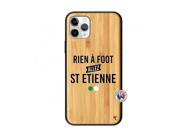 Coque iPhone 11 PRO Rien A Foot Allez St Etienne Bois Bamboo