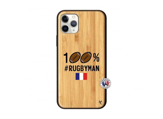 Coque iPhone 11 PRO 100% Rugbyman Bois Bamboo