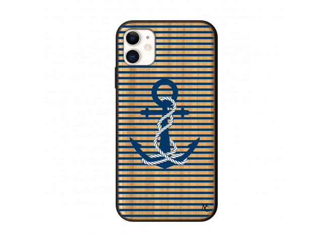 Coque iPhone 11 Ancre Bois Bamboo