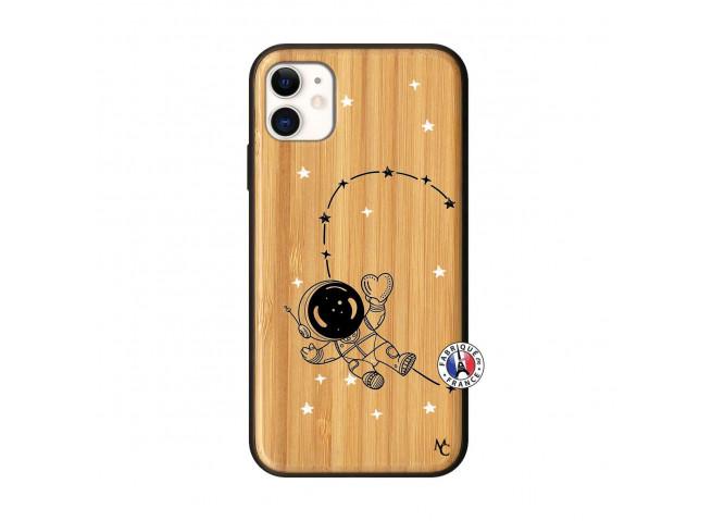 Coque iPhone 11 Astro Girl Bois Bamboo