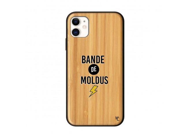 Coque iPhone 11 Bande De Moldus Bois Bamboo