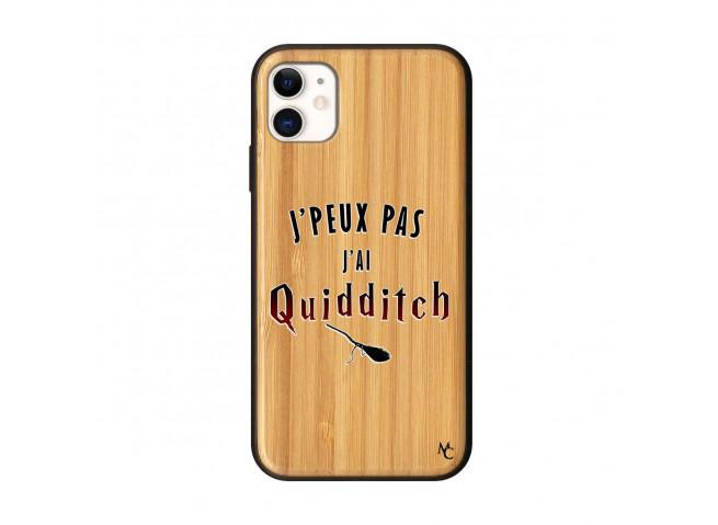 Coque iPhone 11 J Peux Pas J Ai Quidditch 2 Bois Bamboo