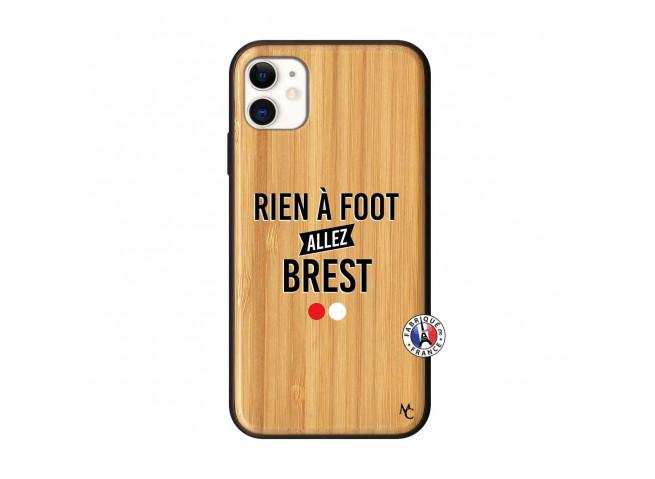 Coque iPhone 11 Rien A Foot Allez Brest Bois Bamboo