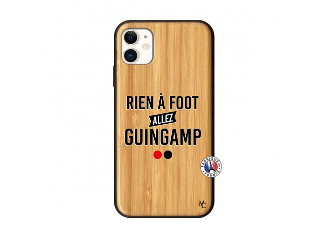 Coque iPhone 11 Rien A Foot Allez Guingamp Bois Bamboo