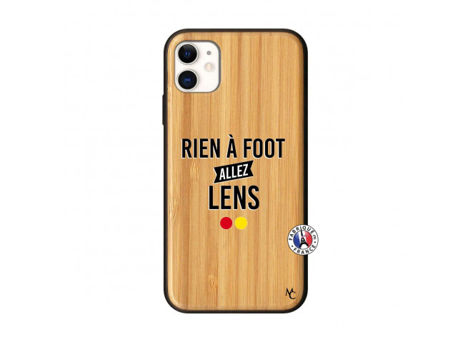 Coque iPhone 11 Rien A Foot Allez Lens Bois Bamboo