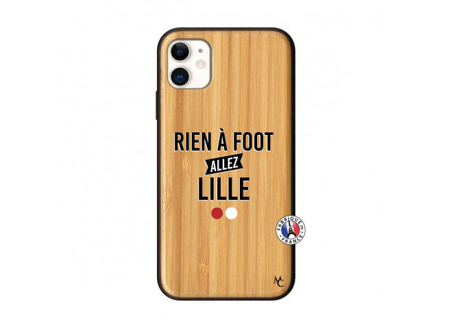 Coque iPhone 11 Rien A Foot Allez Lille Bois Bamboo
