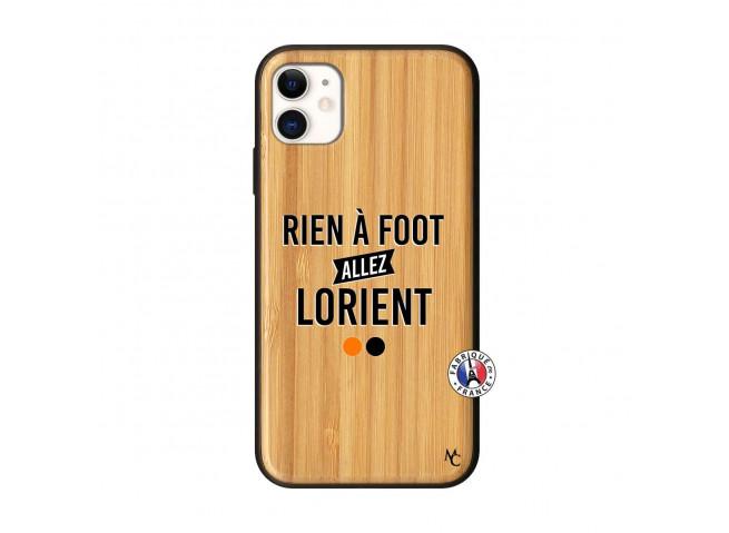 Coque iPhone 11 Rien A Foot Allez Lorient Bois Bamboo