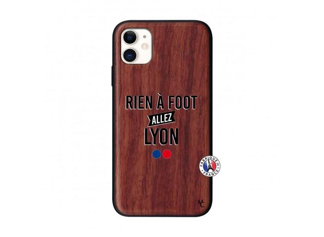 Coque iPhone 11 Rien A Foot Allez Lyon Bois Walnut