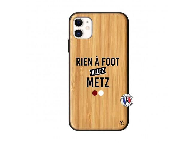 Coque iPhone 11 Rien A Foot Allez Metz Bois Bamboo