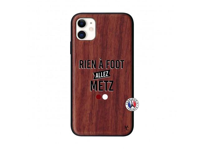 Coque iPhone 11 Rien A Foot Allez Metz Bois Walnut