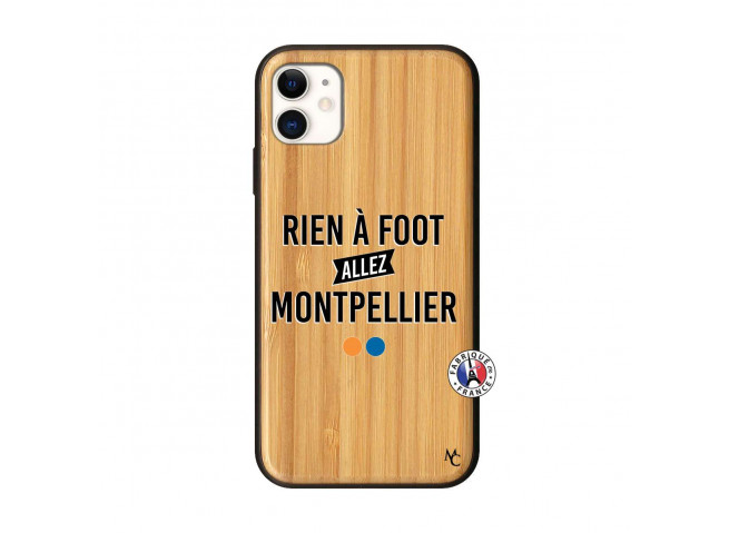 Coque iPhone 11 Rien A Foot Allez Montpellier Bois Bamboo