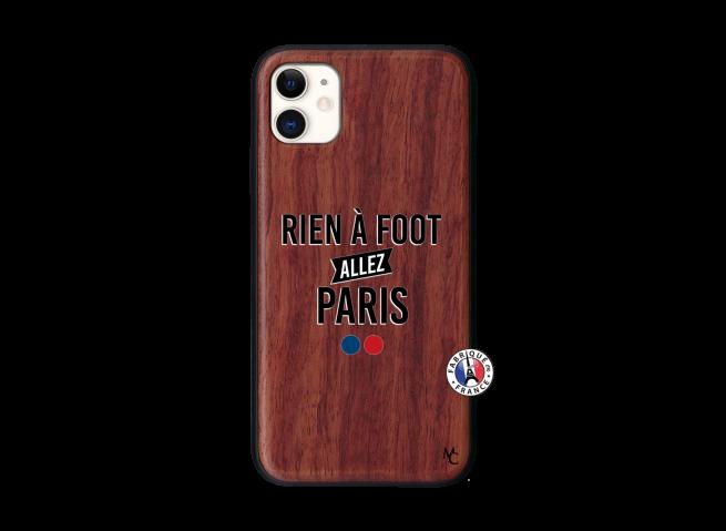 Coque iPhone 11 Rien A Foot Allez Paris Bois Walnut